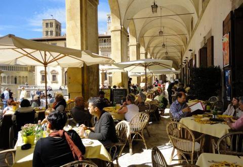 The Vasari Loggia, Arezzo